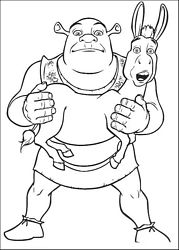 Kolorowanki Dla Dzieci Shrek Malowanki 1