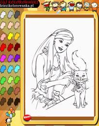 Kolorowanki Dla Dzieci Online Barbie Paczka 1