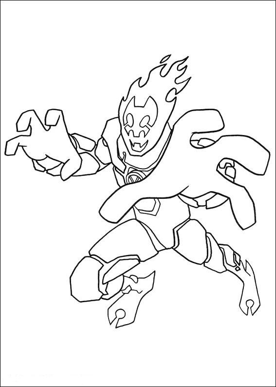 Ben 10 Coloring Pages Heat Blast