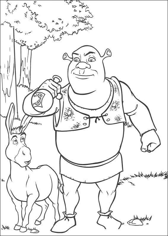 Kolorowanki Dla Dzieci Shrek Malowanki 5