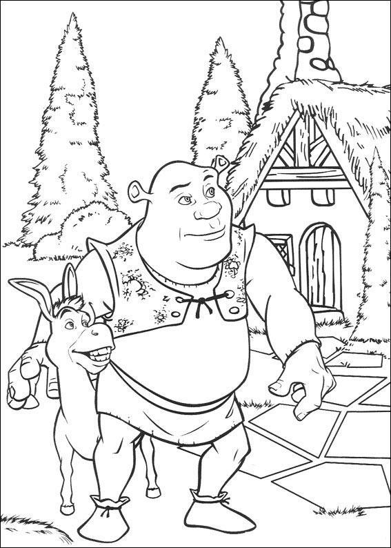 Kolorowanki Dla Dzieci Wielki Zielony Ogr Shrek 475